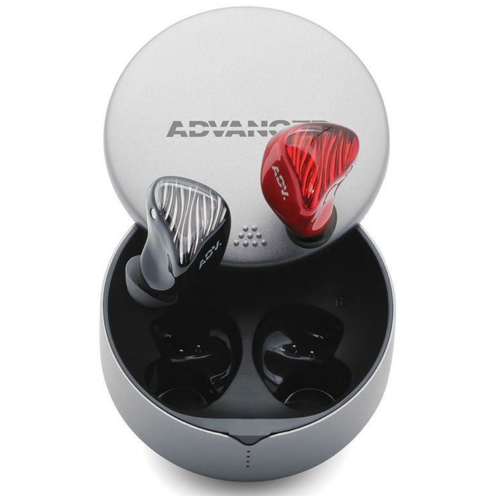 Advanced M5-TWS 3D-Printed True Wireless Earbuds (Accent Red)