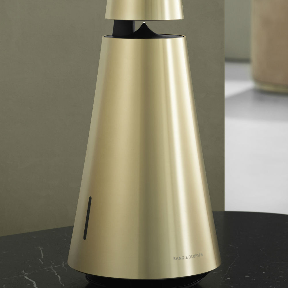 Bang & Olufsen BeoSound 1 GVA Multi-Room Wifi Speaker With Voice Assistant (Brass Tone)