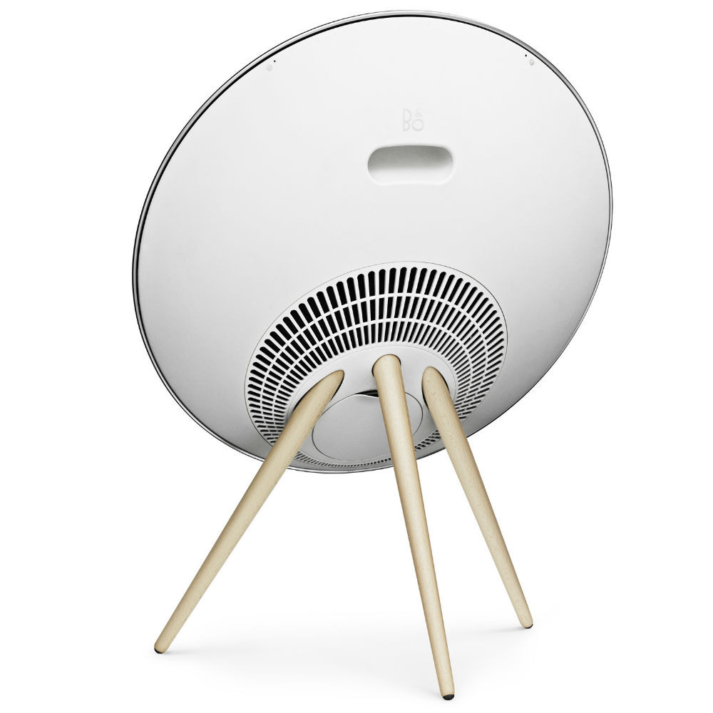 Bang & Olufsen Beoplay A9 4th Generation Wireless Speaker System With Voice Assistant (White Cover / Oak Legs)
