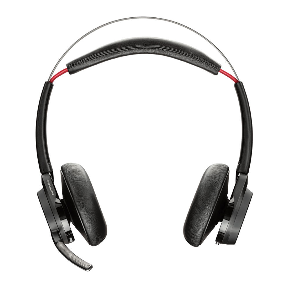 Plantronics Voyager Focus UC B825 Standard Noise Cancelling Headset With Charging Stand, USB-C (Black)