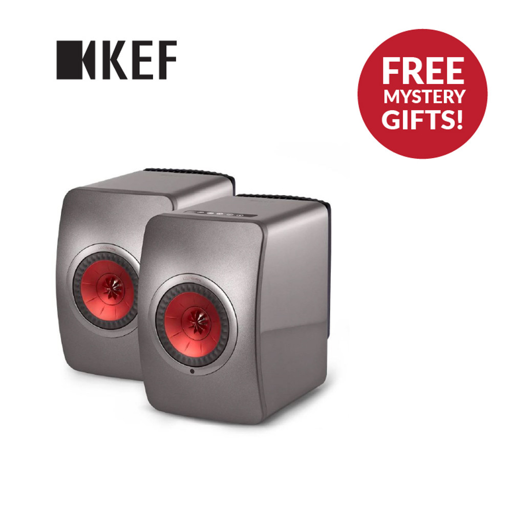 KEF LS50W Wireless Speaker + KEF Porsche Design Gravity One Bundle