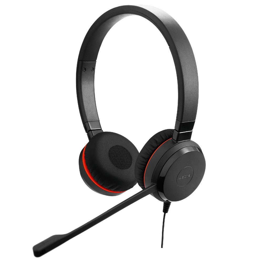 Jabra Evolve 30 UC Stereo Office Headset, USB-A, 3.5mm