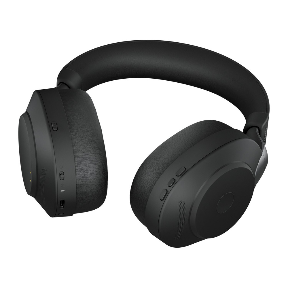 Jabra Evolve2 85 MS Stereo Active Noise Cancelling Headset With Link 380 USB-C Wireless Adapter (Black)