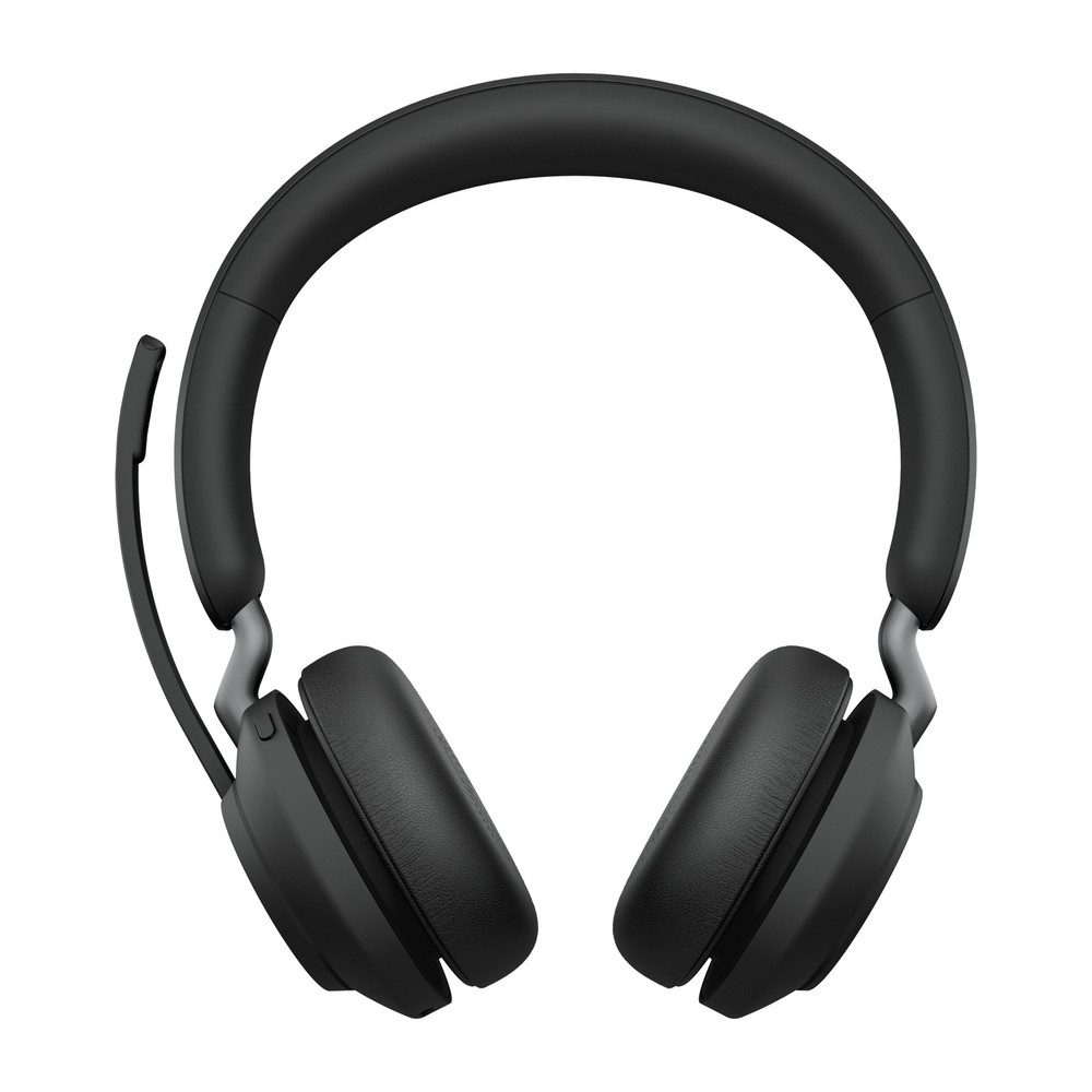 Jabra Evolve2 65 MS Stereo Headset With Link 380 USB-A Wireless Adapter (Black)