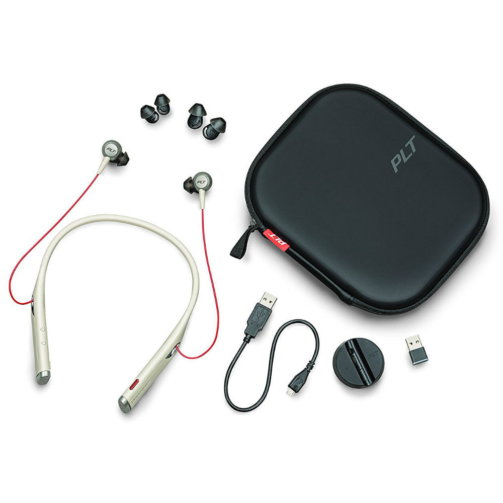 Poly Plantronics Voyager 6200 UC Noise Cancelling Wireless Headset With BT600 USB Adapter, USB-C (Black)