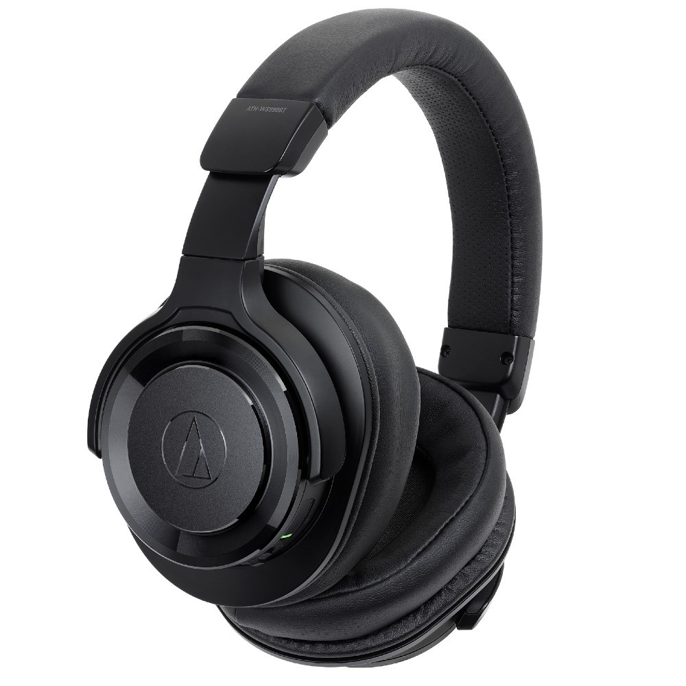Audio-Technica ATH-WS990BT Solid Bass Wireless Over-Ear Headphones With Built-in Mic & Control