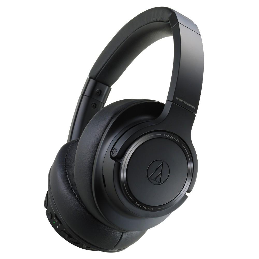 Audio-Technica ATH-SR50BT High-Res Wireless Over-Ear Headphones (Black)
