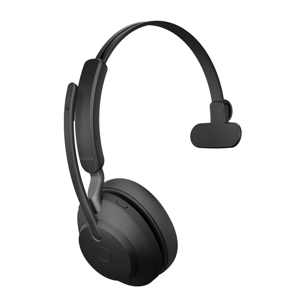 Jabra Evolve2 65 UC Mono Headset With Link 380 USB-A Wireless Adapter (Black)