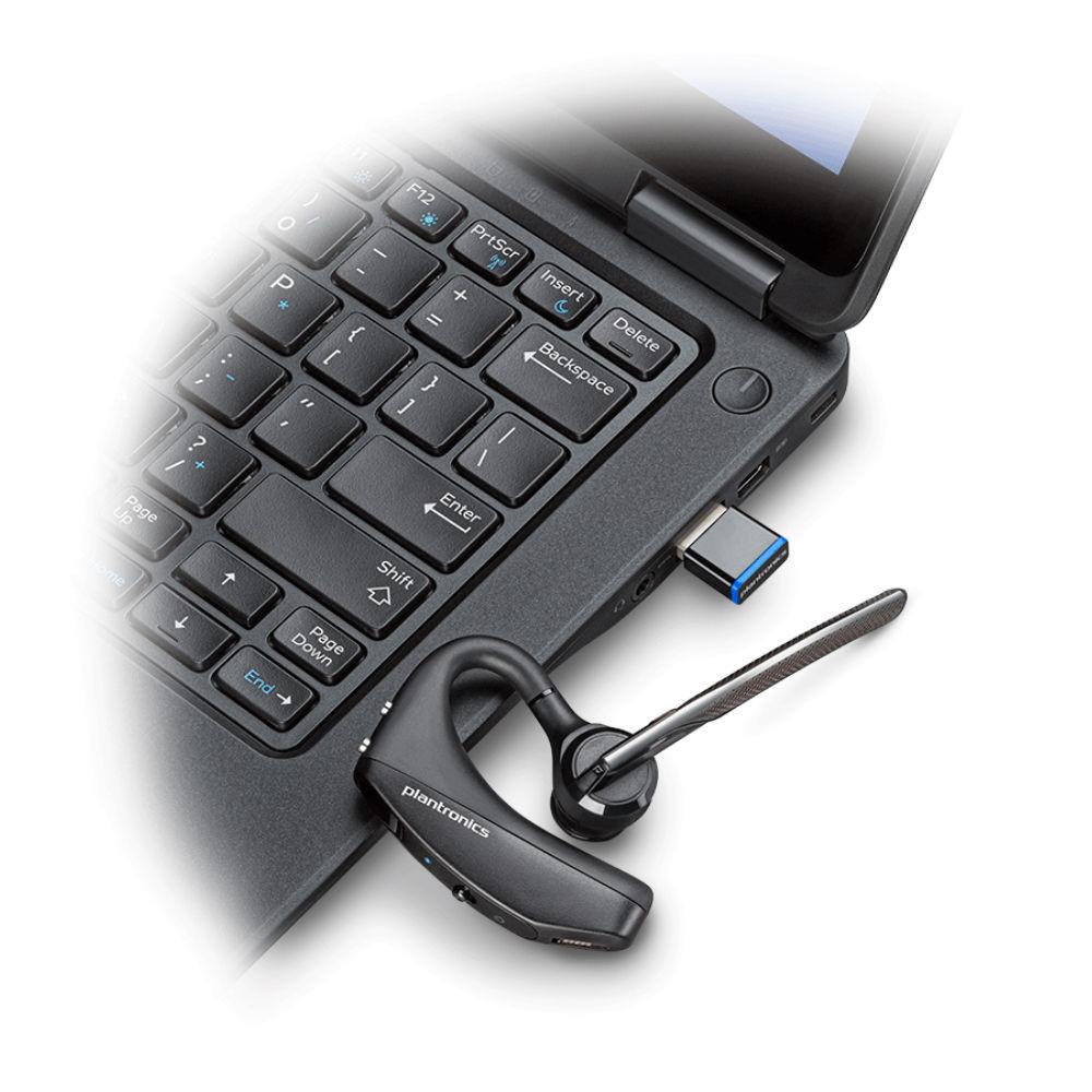 Plantronics Voyager 5200 Office, 2-way Base, USB-C Mono Bluetooth Headset System