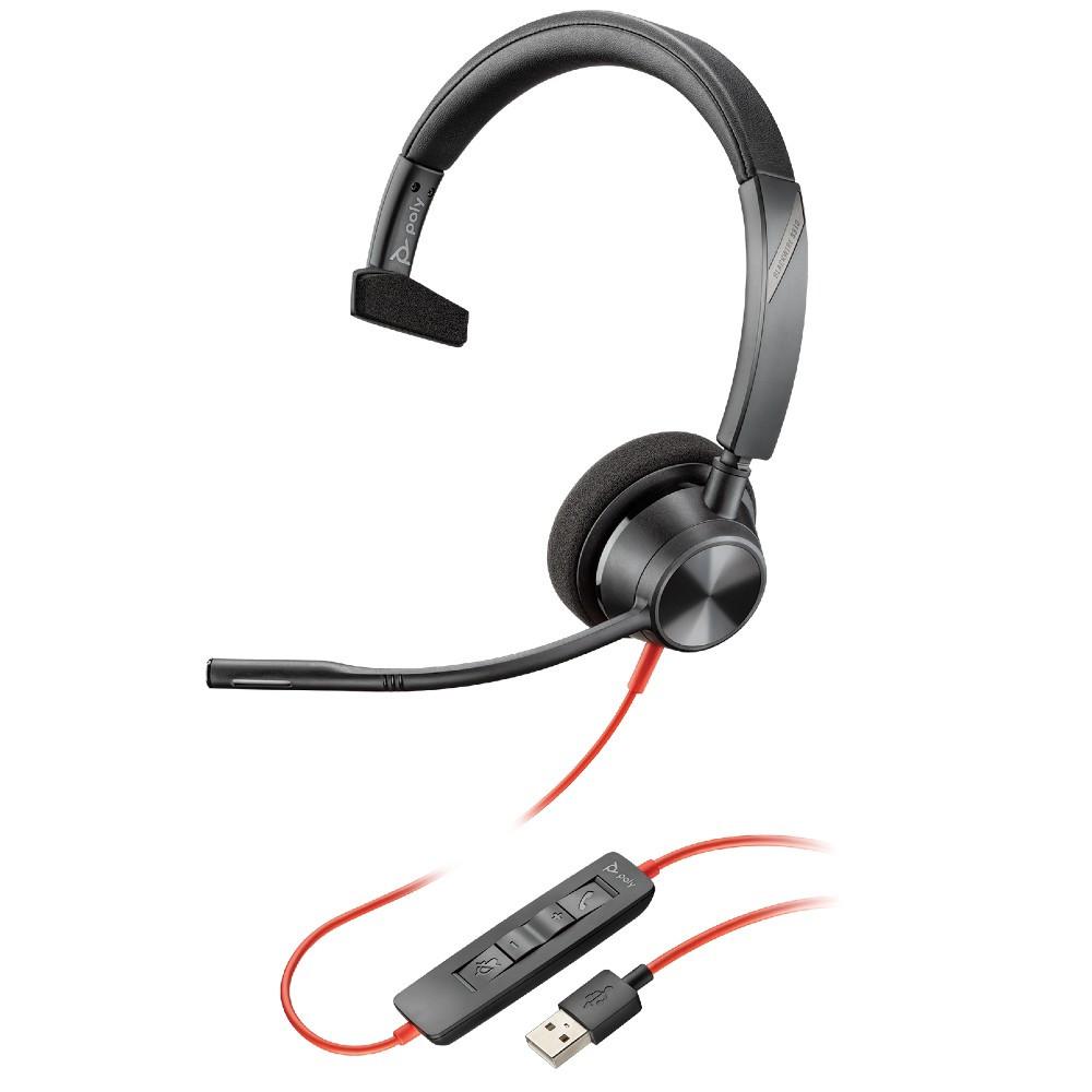 Poly Plantronics Blackwire 3310-M Teams Mono Office Headset USB-A