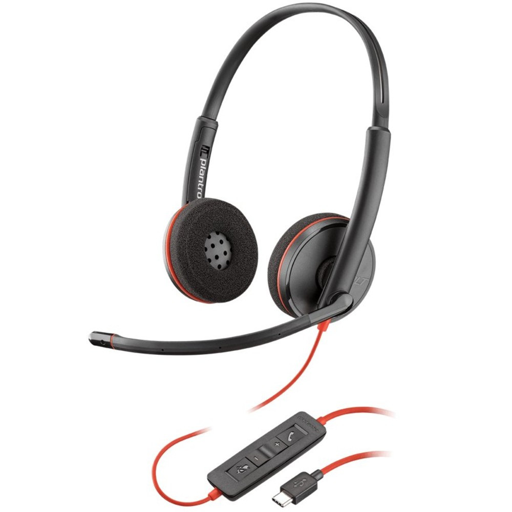 Poly Plantronics Blackwire 3220 Stereo Office Headset USB-C