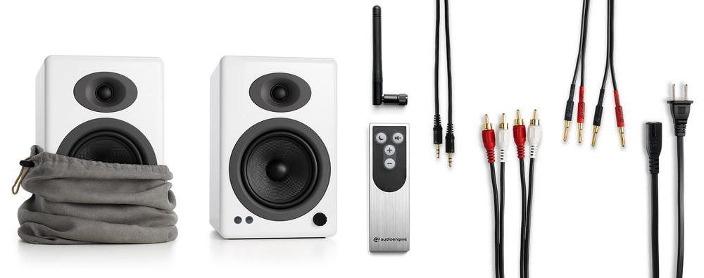Audioengine A5+ Wireless Speaker System (Hi-Gloss White)