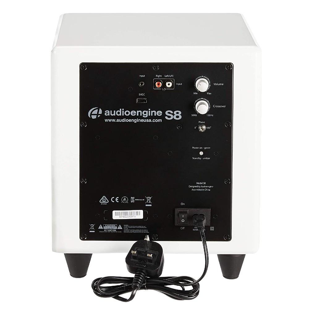 Audioengine S8 Powered Subwoofer (Hi-Gloss White)