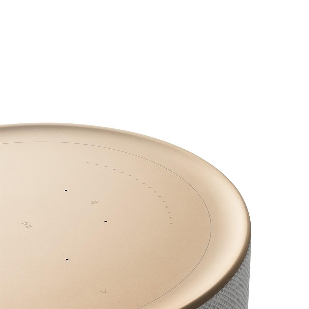 Bang & Olufsen Beosound Balance Wireless Speaker With Voice Assistant (Gold Tone / White Marble)