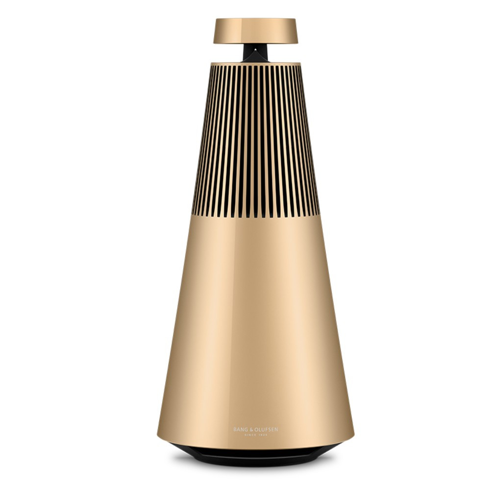 Bang & Olufsen BeoSound 2 GVA Multi-Room Wifi Speaker With Voice Assistant (Gold Tone)