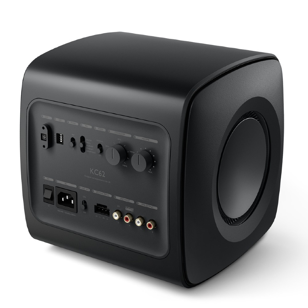 KEF KC62 Ultra Compact 1000W RMS Subwoofer For LSX and LS50 Wireless II (Carbon Black)
