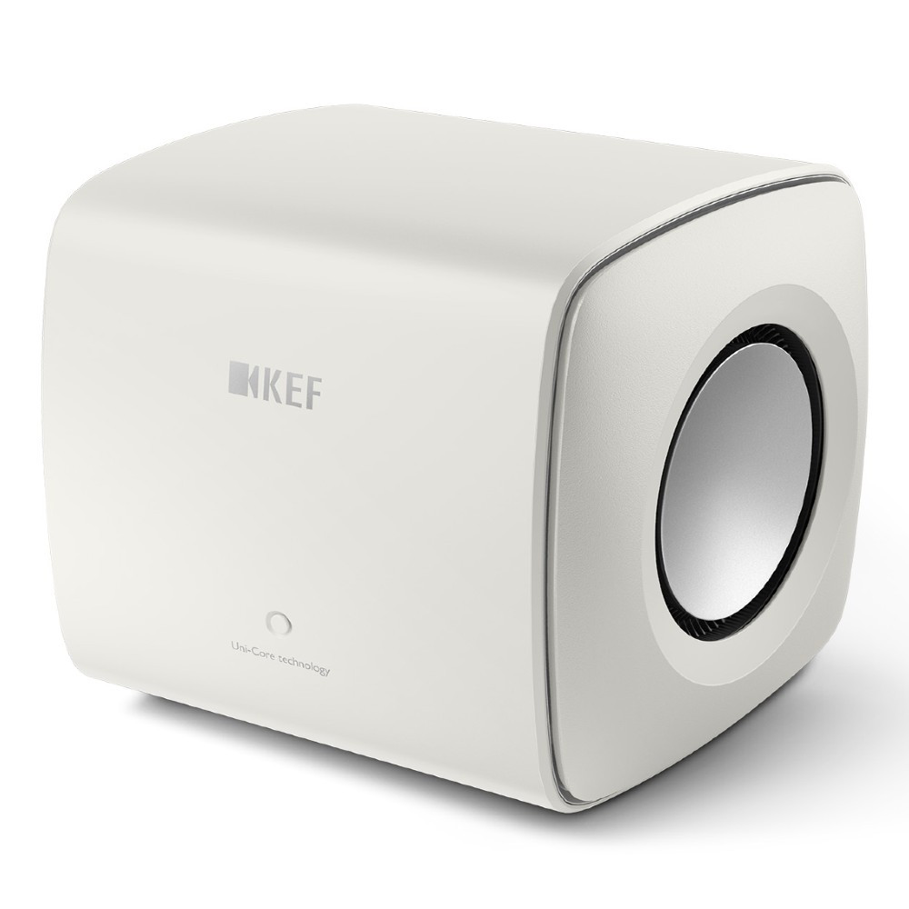 KEF KC62 Ultra Compact 1000W RMS Subwoofer For LSX and LS50 Wireless II (Mineral White)