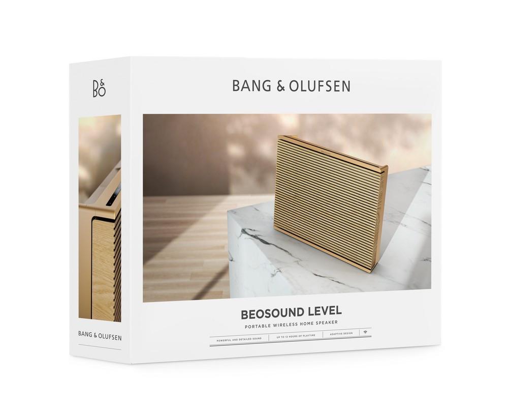 Bang & Olufsen Beosound Level Wireless Wifi Home Speaker (Gold Tone / Light Oak)