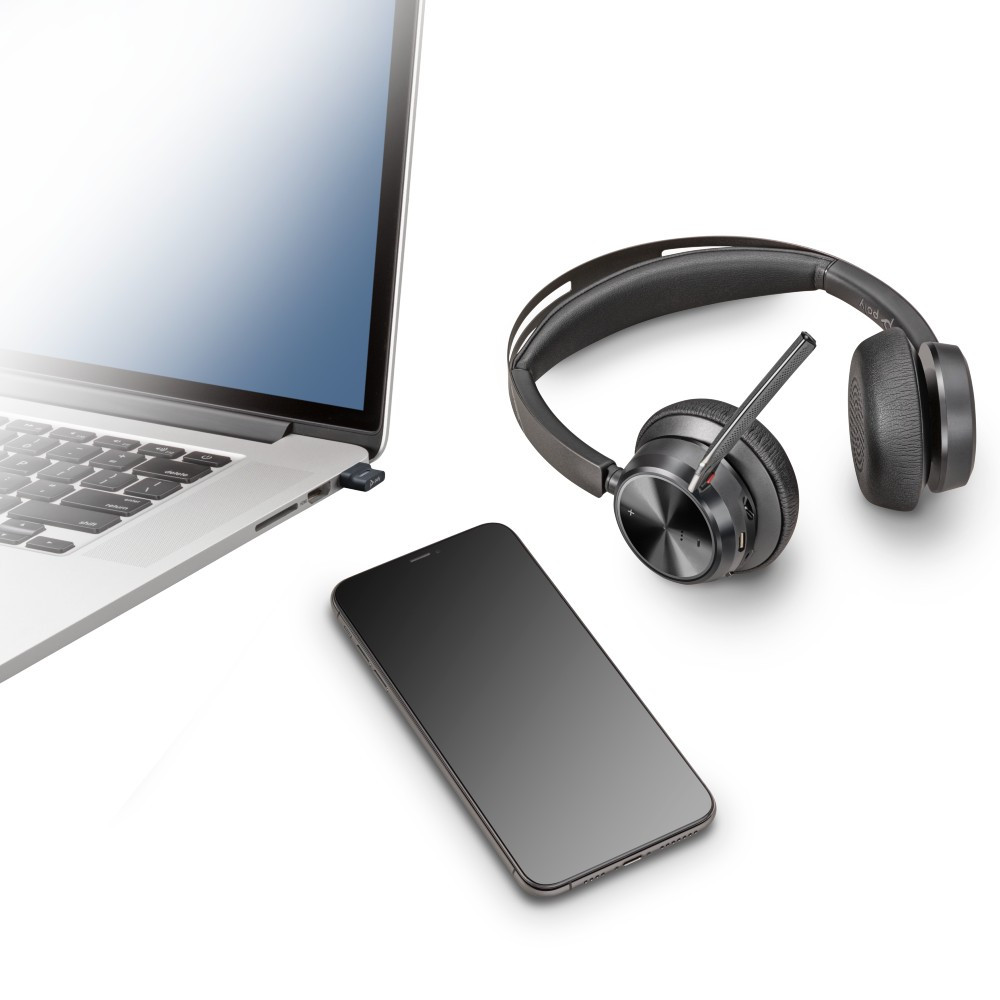 Poly Plantronics Voyager Focus 2 UC Wireless Headset With Active Noise Cancellation, With Charging Stand, USB-A