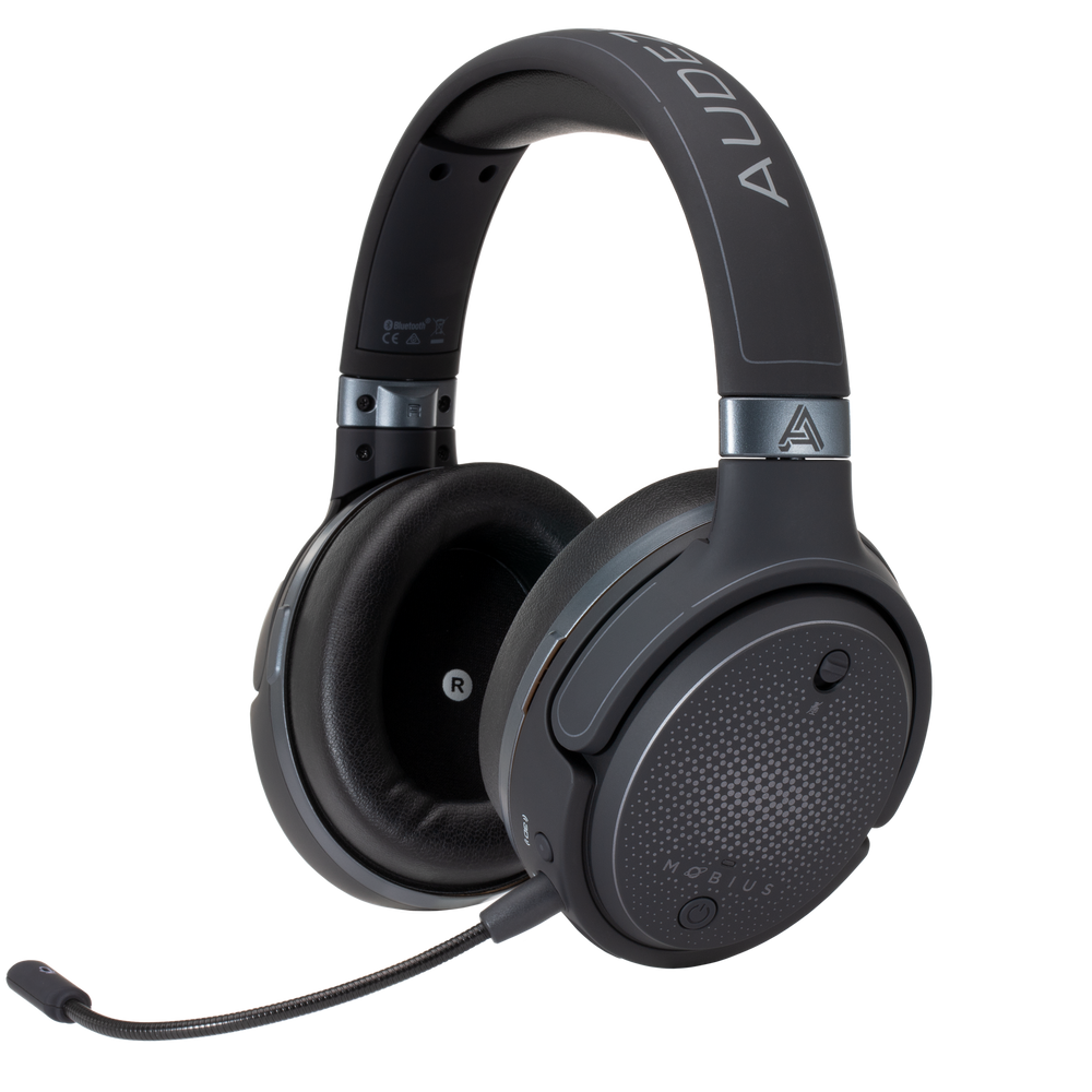 Audeze Mobius Wireless Over-Ear Gaming Headphones With Detachable Microphone