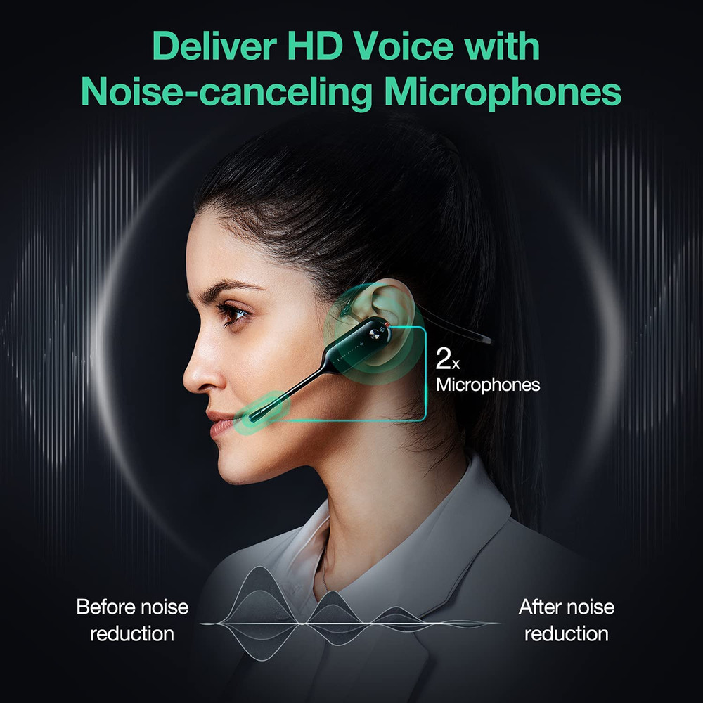 Yealink WH67 DECT Wireless Convertible Headset, MS Teams, With Touch Screen UC Workstation