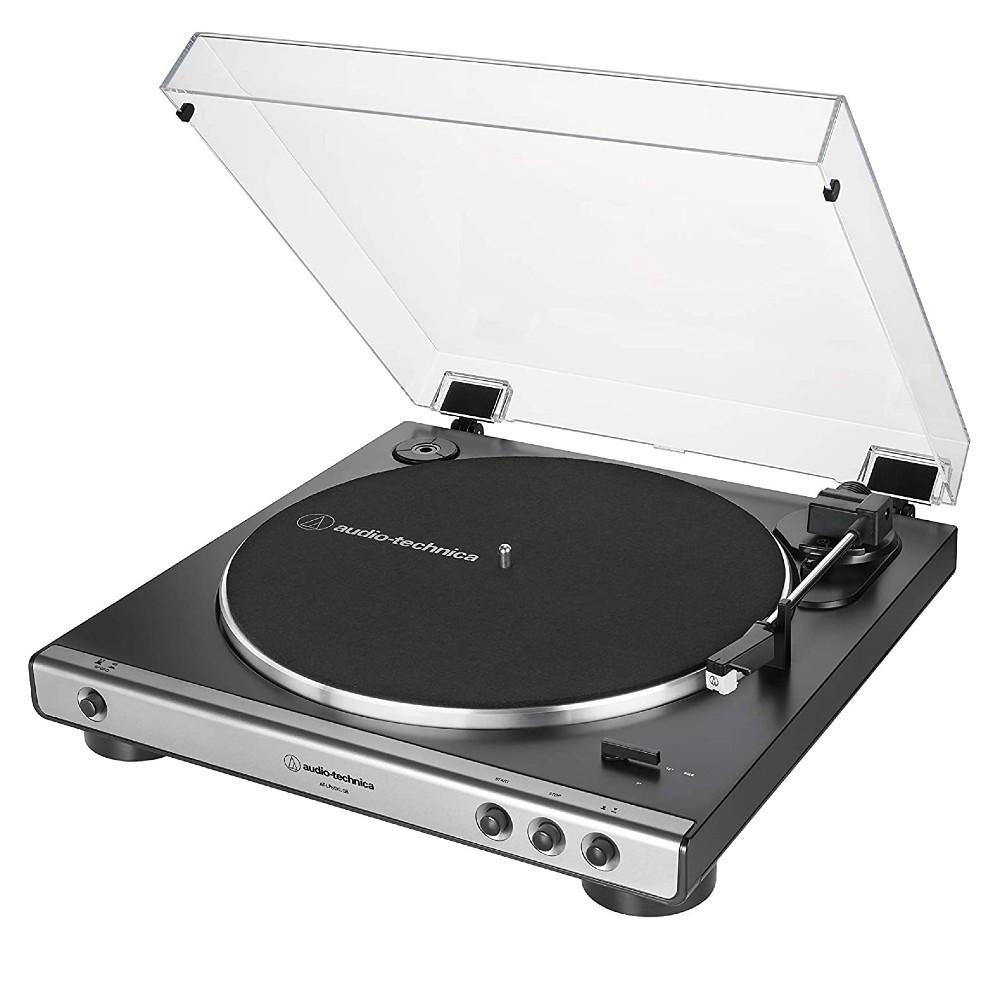 Audio-Technica AT-LP60XUSB Fully Automatic Wireless Belt Drive Turntable, USB & Analog (Gunmetal)