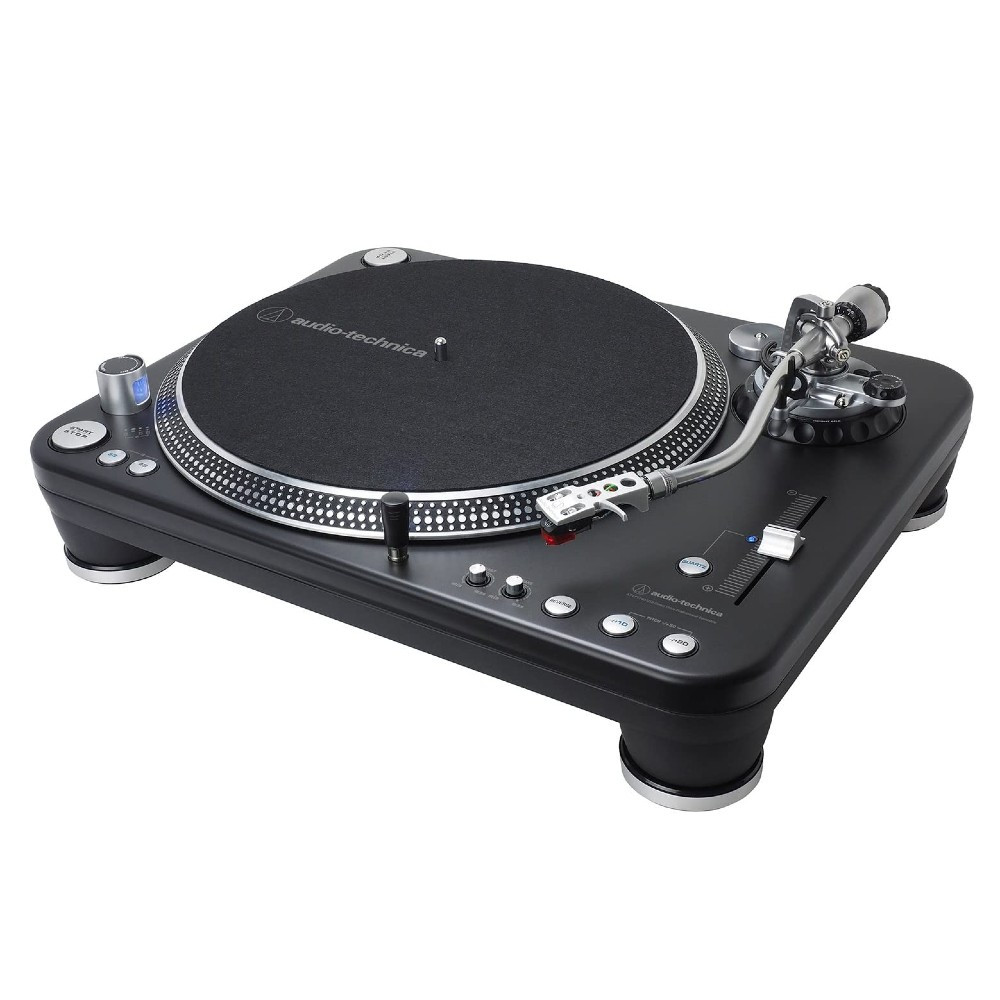 Audio-Technica AT-LP1240-USBXP Fully Manual Direct Drive Professional DJ Turntable, USB & Analog