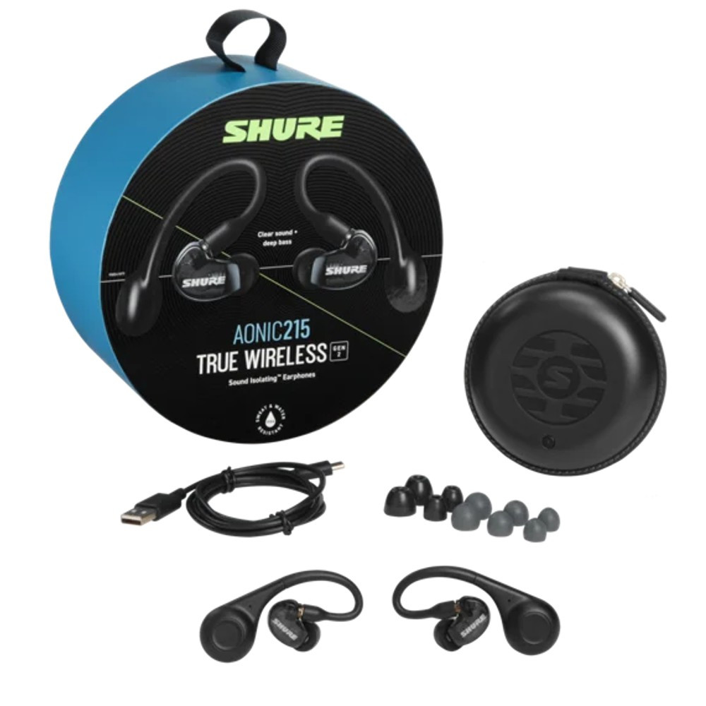 Shure Aonic 215 True Wireless Sound Isolating Earphones, Gen 2 (Black)