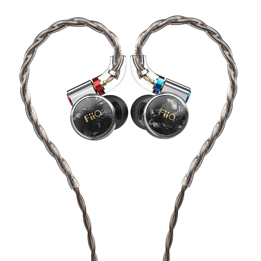Fiio FD3 Single Dynamic Driver In-Ear Monitors, With Detachable Cable, 4 Strands (Silver)