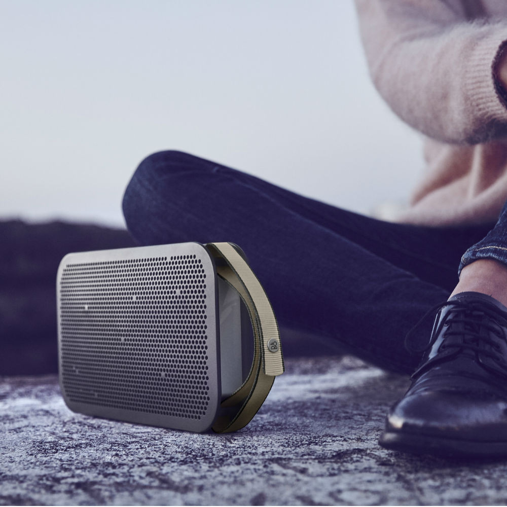 B&O PLAY BeoPlay A2 Active Wireless Speaker (Stone Grey)
