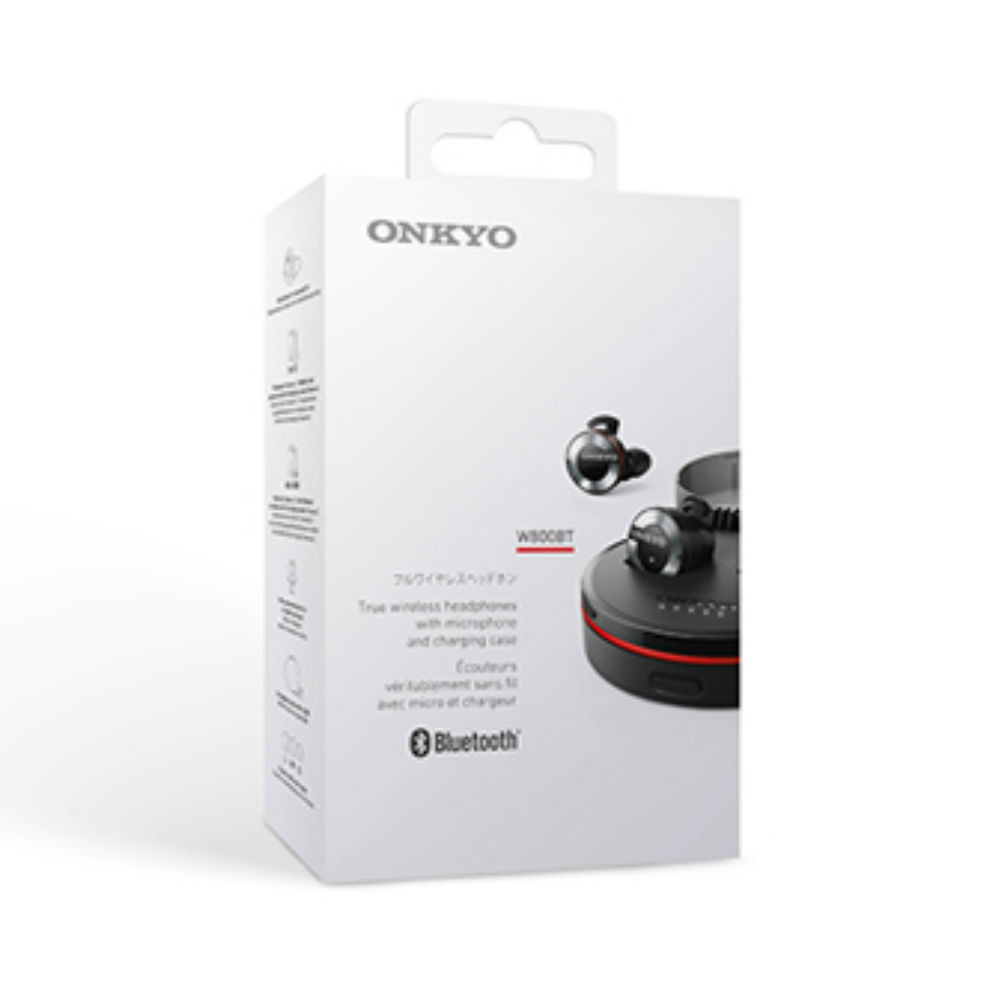 Onkyo W800BT High Resolution Wireless Earbuds (Black)