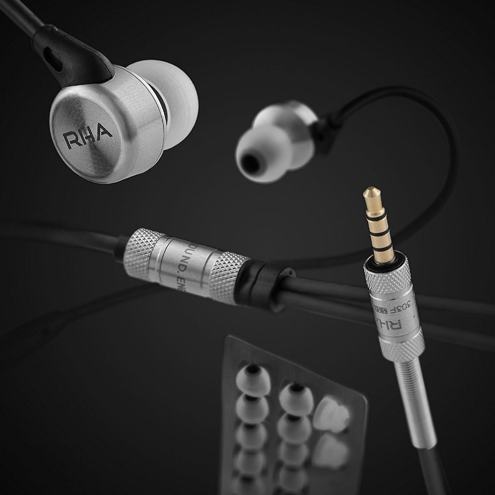 RHA MA750i Noise Isolating High Resolution In Ear Earphones (Black/Silver)