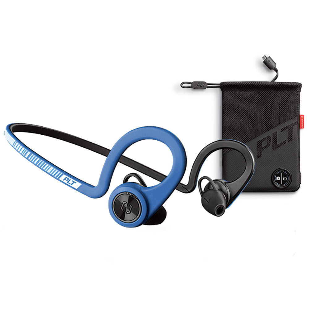 Plantronics BackBeat Fit Boost Edition With Charging Pouch (Power Blue)