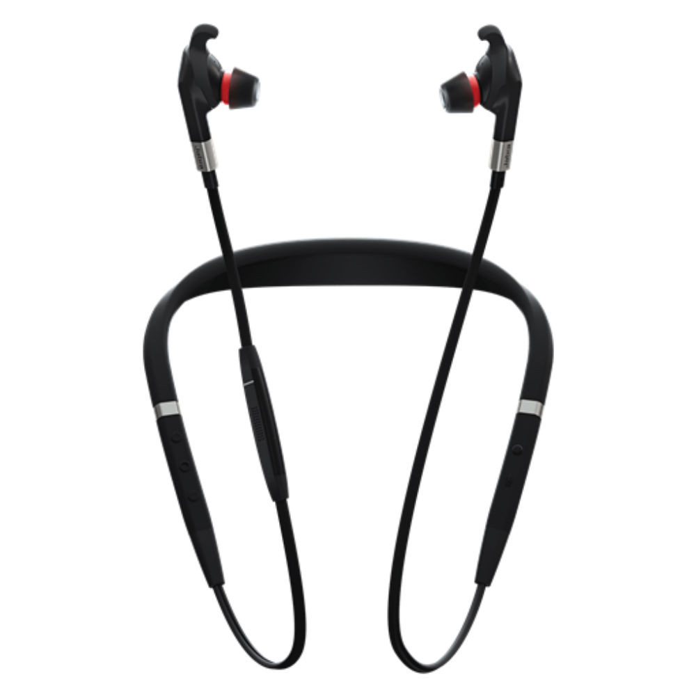 Jabra Evolve 75e UC Professional Noise Cancelling Wireless Neckband Headset With Link 370 USB Adapter