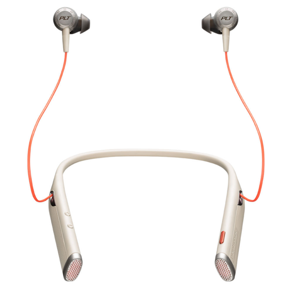 Poly Plantronics Voyager 6200 UC Noise Cancelling Wireless Headset With USB Adaptor (Sand)