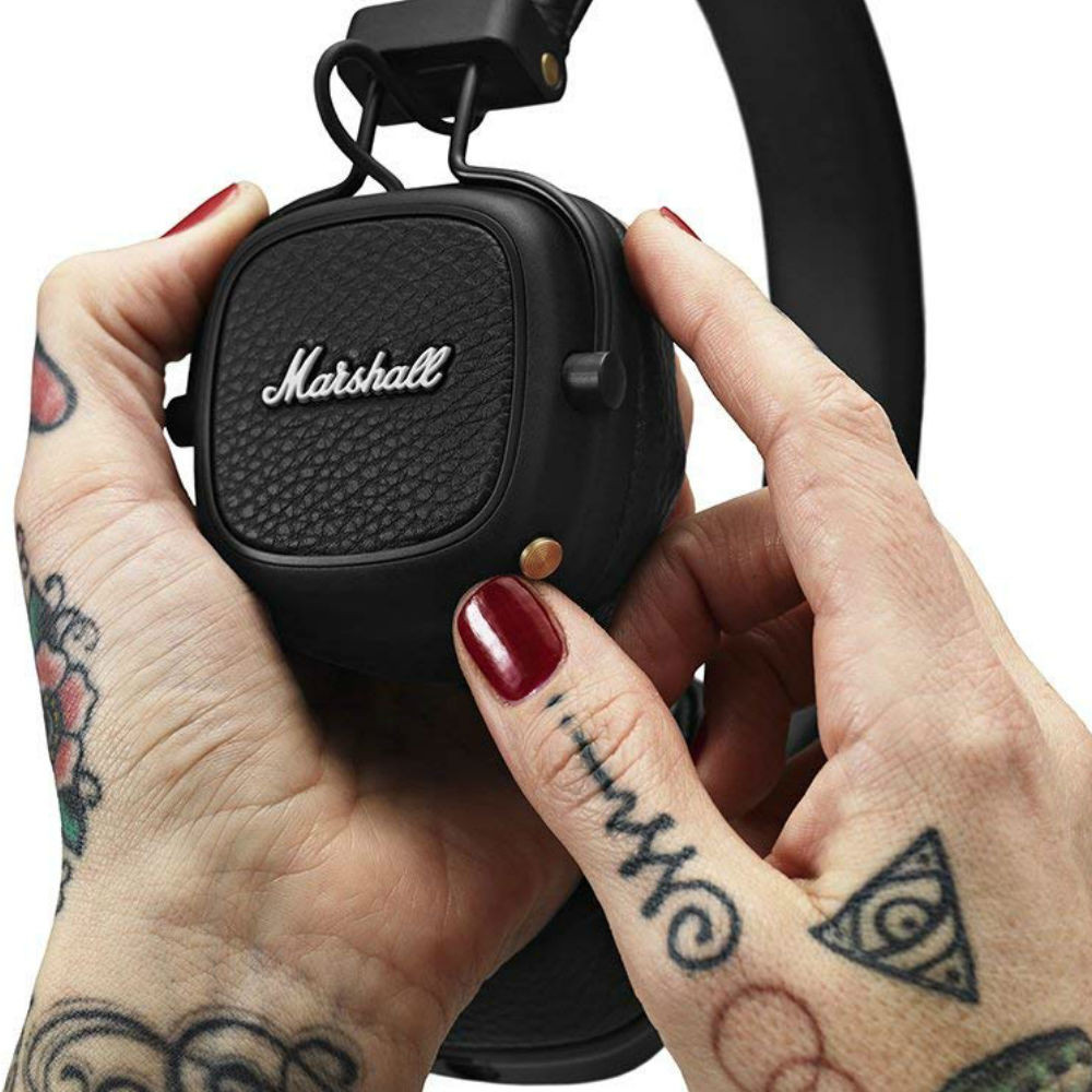 Marshall Major III Bluetooth Wireless On-Ear Headphones (Black)