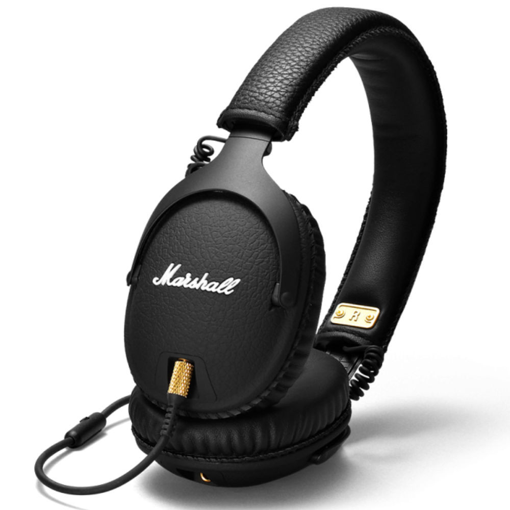 Marshall Monitor Black Wired Over-Ear Headphones (Black)