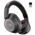 Plantronics Voyager 8200 UC Noise Cancelling Wireless Headset With USB-C Adapter (Black)