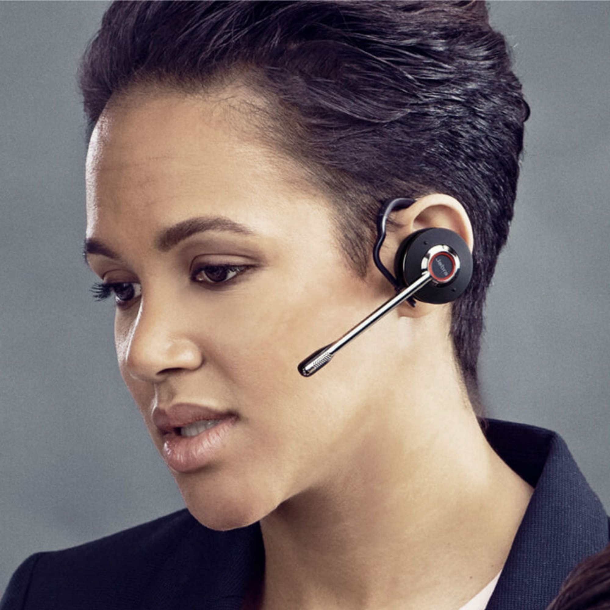 Jabra Engage 75 Convertible Wireless Noise Cancelling Headset With Charging  Base (Black)