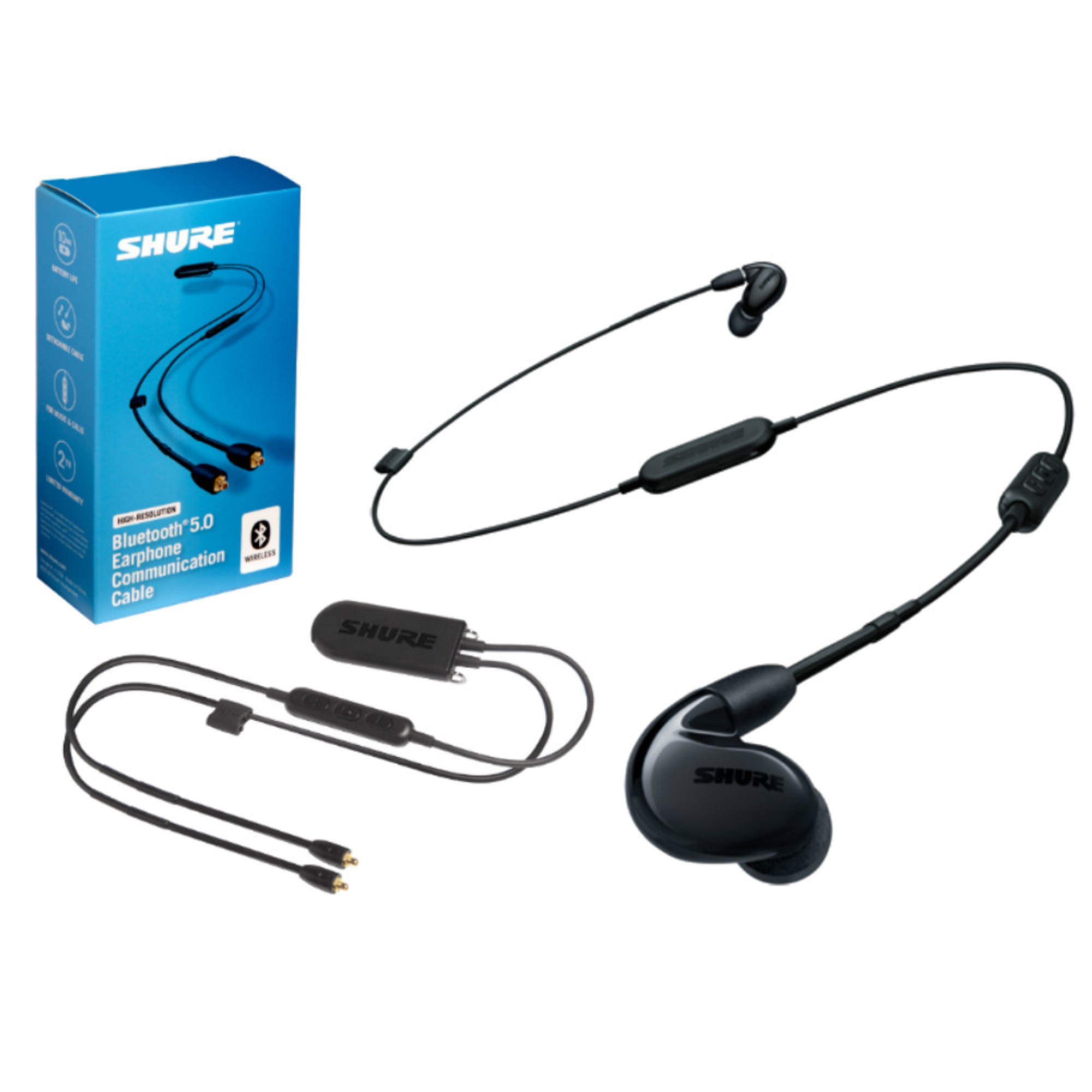 ba1ef4278bb Shure SE846 Wireless Earphones + RMCE-BT2 Bluetooth 5 Cable Bundle ...