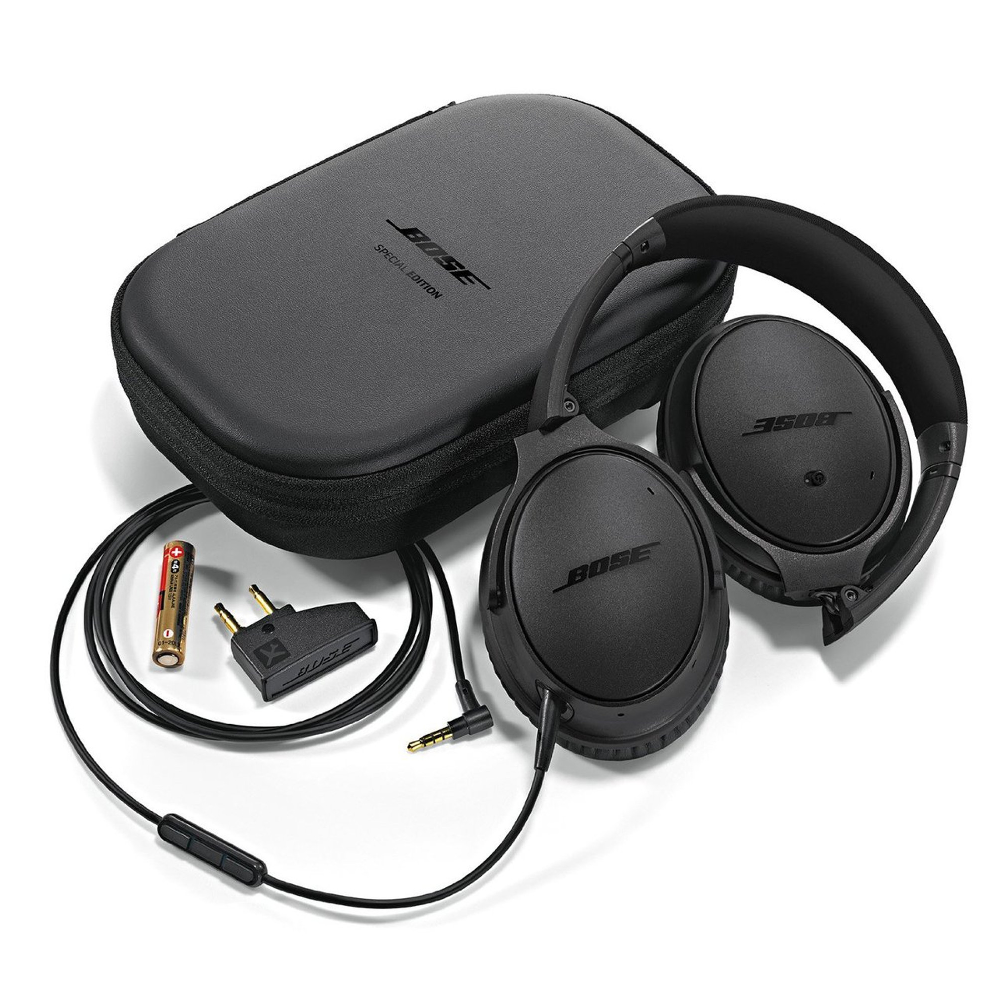 7803acfe532 Bose QuietComfort 25 Noise Cancelling Headphones For Apple Devices (Triple  Black)