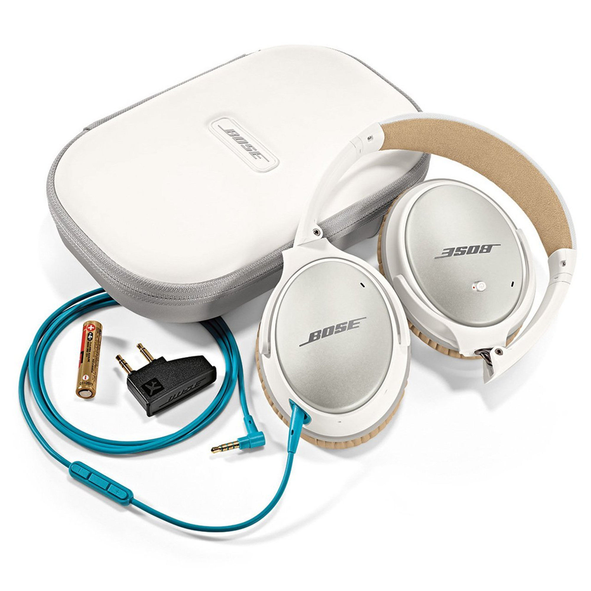4a6c8168b37 Bose QuietComfort 25 Noise Cancelling Headphones For Android Devices (White)