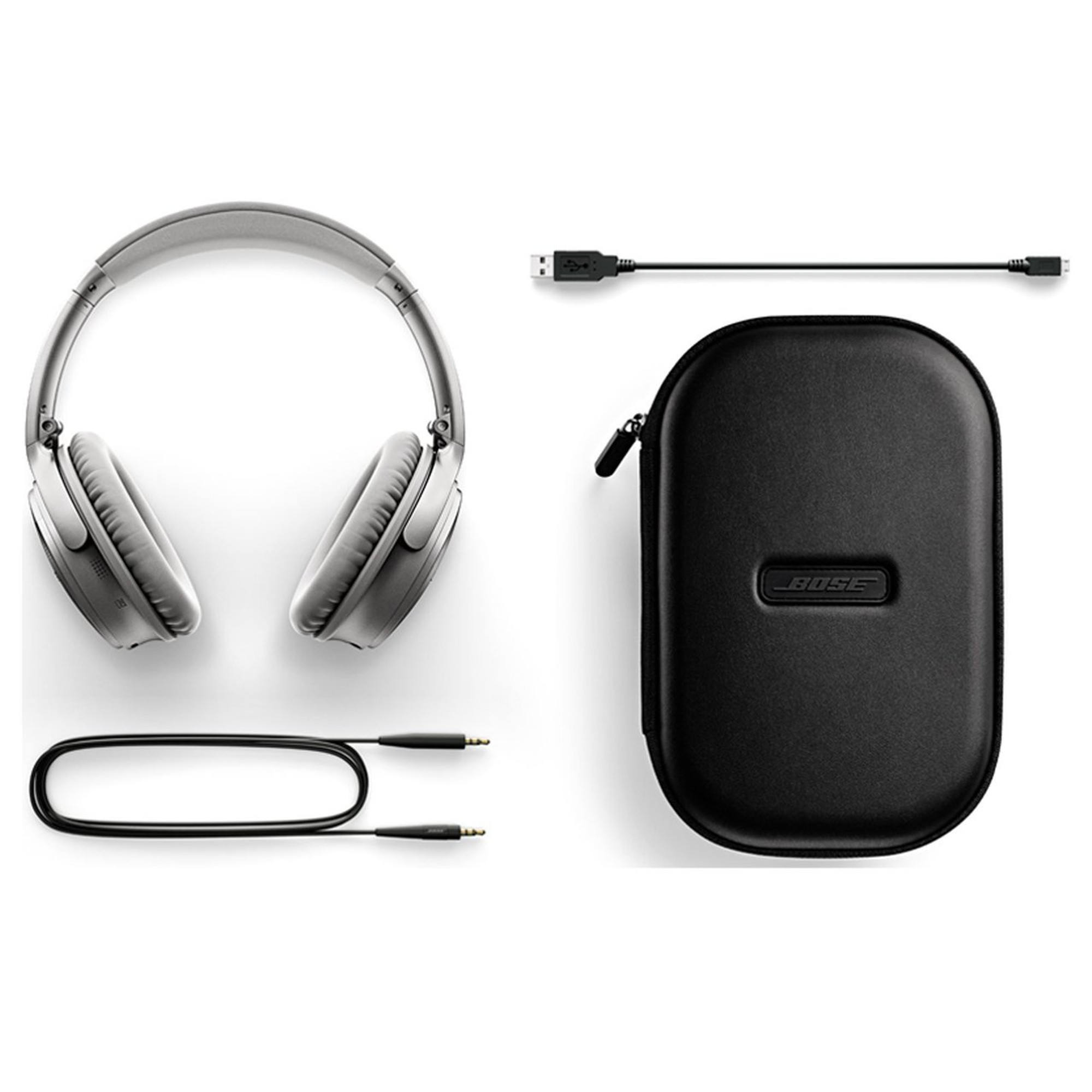 765f635177a ... Bose QC35 QuietComfort 35 Wireless Noise Cancelling Headphones (Silver)