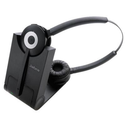Jabra Pro 930 MS Duo Stereo Wireless Headset With DECT Base Station (Black)