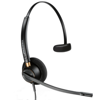 Poly Plantronics EncorePro 510 QD Mono Voice Tube Headset, Quick Disconnect