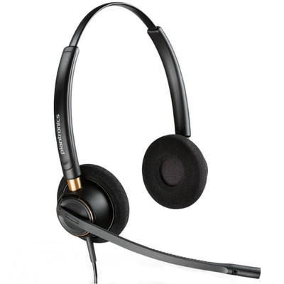 Poly Plantronics EncorePro 520 QD Stereo Noise Cancelling Headset, Quick Disconnect