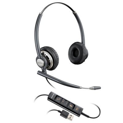 Plantronics EncorePro 725 USB, Stereo, Noise Cancelling Headset, HW725 USB