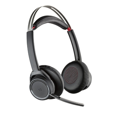 Poly Plantronics Voyager Focus UC B825 Standard Noise Cancelling Headset, No Stand, USB-A (Black)