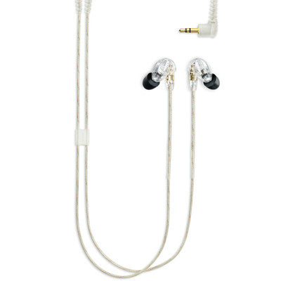 Shure SE215 Single Microdriver Sound Isolating Earphones With Standard Cable (Clear)