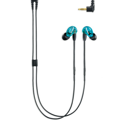 Shure SE215 Single Microdriver Sound Isolating Earphones With Standard Cable (Blue)